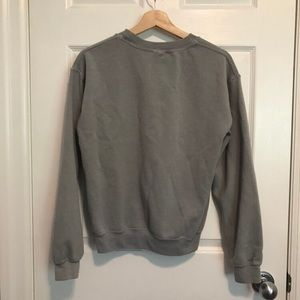 Brandy Melville Tops - BRANDY MELVILLE Greenish Grey Crewneck